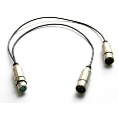 Kabel XLR ż 5-pin do 2x XLR m 3-pin