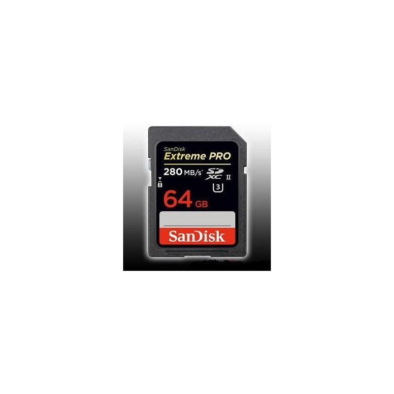 SanDisk SDXC 64GB UHS-II 280 MB/s 4K U3