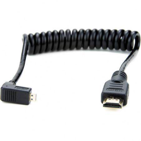 Atomos zwinięty Kątowy kabel Micro HDMI do Full HDMI 30cm