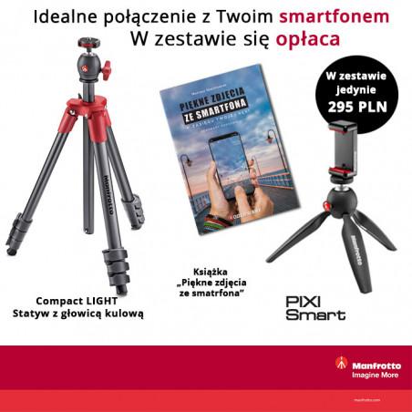 Zestaw Manfrotto Compact + Pixi + Klamra + Książka