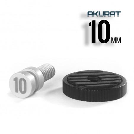 Akurat 10mm – gwint 1/4-20 Adapter do akcesoriów z długim gwintem i nakrętką