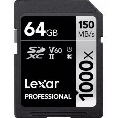 Karta pamięci LEXAR 64GB 1000X SDXC PROFESSIONAL