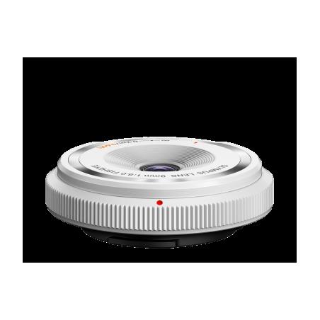 Olympus 9mm f/8 fisheye / obiektyw dekielkowy / biały