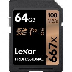 Karta pamięci 64GB Lexar Pro 667X SDHC/SDXC UHS-1 (V30)