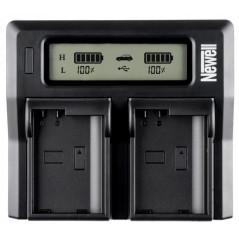Ładowarka dwukanałowa Newell DC-LCD do akumulatorów serii NP-F, NP-FM