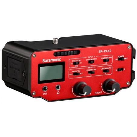 Saramonic SR-PAX2 adapter audio dwukanałowy aktywny