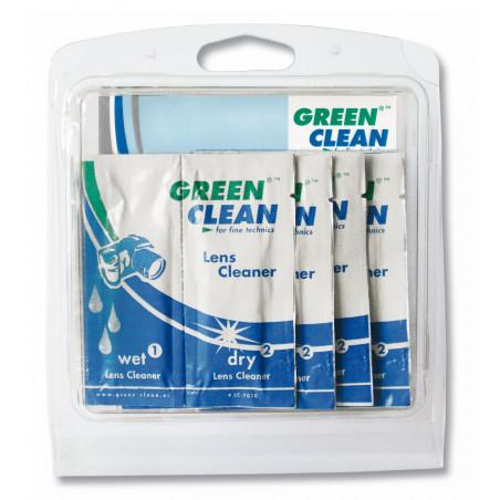 Green Clean zestaw ściereczek do czyszczenia optyki mokra + sucha (GCLC-7010-10)