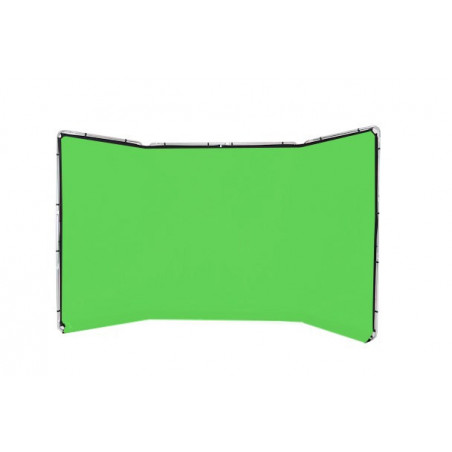 Lastolite tło panoramiczne 4m z ramą Chromakey green (LL LB7622)