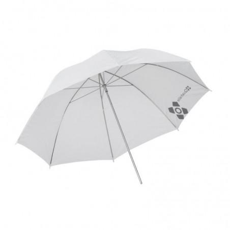 Quadralite parasolka biała transparentna 91cm