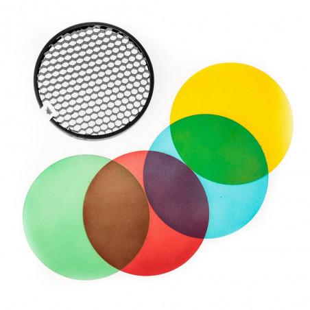 Quadralite Reporter zestaw filtrów żelowych i grid