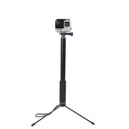 Statyw teleskopowy dla kamer sportowych i małych lamp oświetleniowych