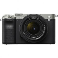 Sony A7C + 28-60mm f/4-5.6 (ILCE-7CL) kompaktowy aparat pełnoklatkowy (srebrny)
