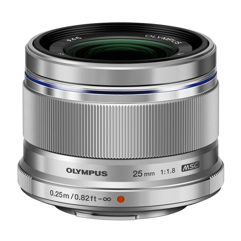 Obiektyw Olympus M.ZUIKO DIGITAL 25mm 1:1.8  srebrny