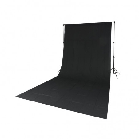 Quadralite poprzeczka do teł rozkładana L-2800G + Tło tekstylne czarne 2,85x6m