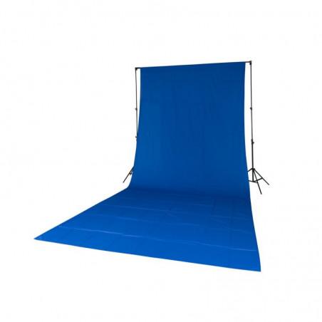 Quadralite poprzeczka do teł rozkładana L-2800G + Tło tekstylne niebieskie 2,85x6m