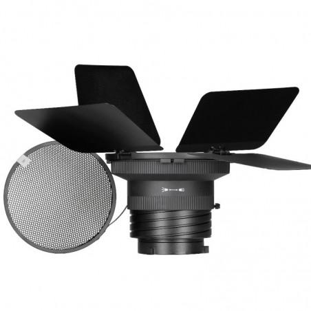 Quadralite Fresnel Lens Kit do lamp Video LED