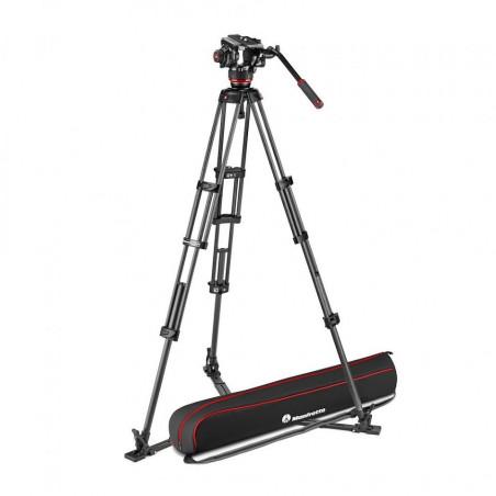 Manfrott zestaw video 504X, statyw Twin Carbon z dolną rozpórką (MVK504XTWINGC)
