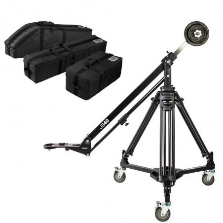 Libec JB40 KIT profesjonalne ramię wysięgnika ze statywem T102B i wózkiem DL-8RB