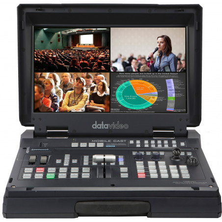 DataVideo HS-1600T Mark II | 4-Channel HD/SD HDBaseT Portable Video Streaming Studio