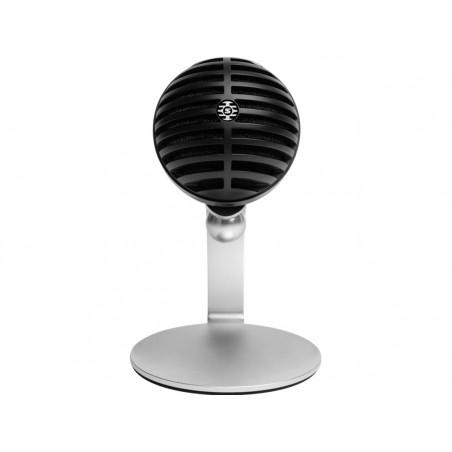 """Shure Motiv MV5C-USB LTG cyfrowy mikrofon pojemnościowy (czarny) + kabel USB do PC i Mac i typu """"Lightning"""" dla urządzeń iOS"""