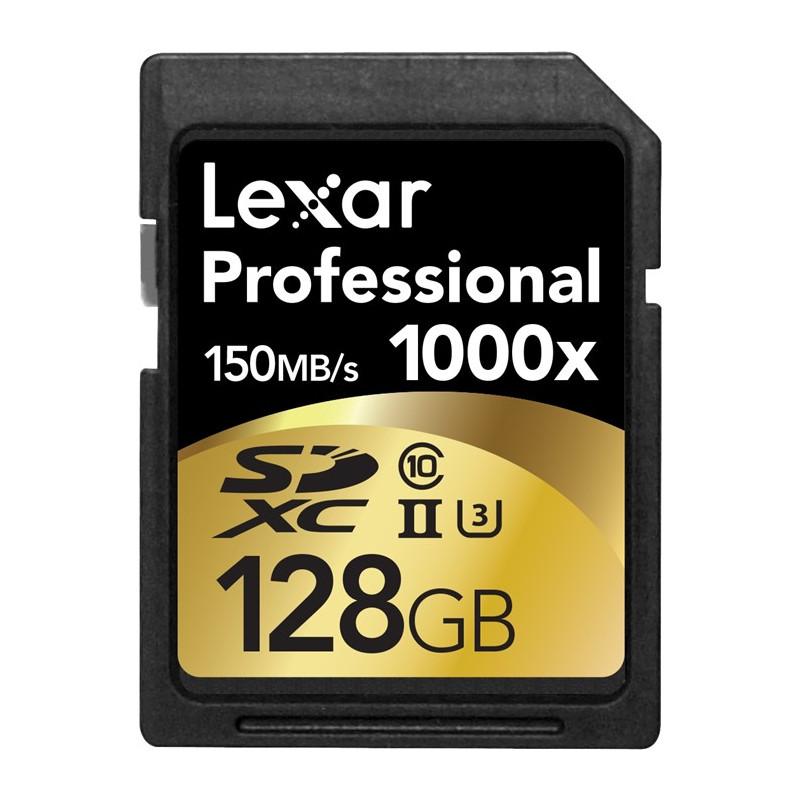 LEXAR Professional 128GB SDXC x1000 (150 MB)
