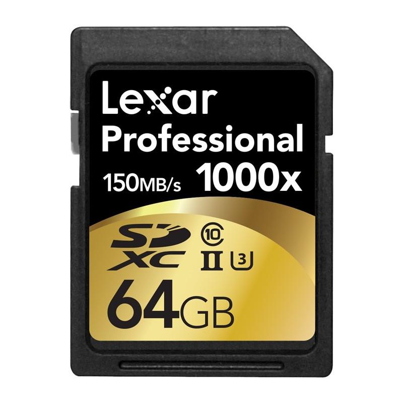 LEXAR Professional 64GB SDXC x1000 (150MB/s)