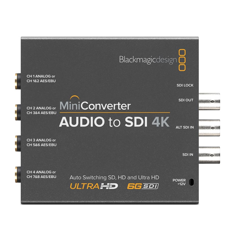 Blackmagic Mini Konwerter - Audio to SDI 4K