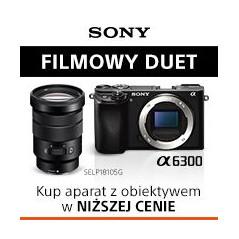 Aparat Sony ILCE 6300 z obiektywem SELP18-105F4 G