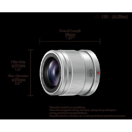 Obiektyw Panasonic 42,5mm F/1,7(H-HS043E-S) srebrny