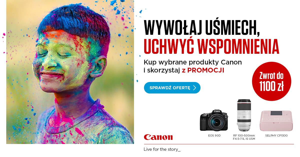 Kup wybrane produkty Canon i skorzystaj z Promocji