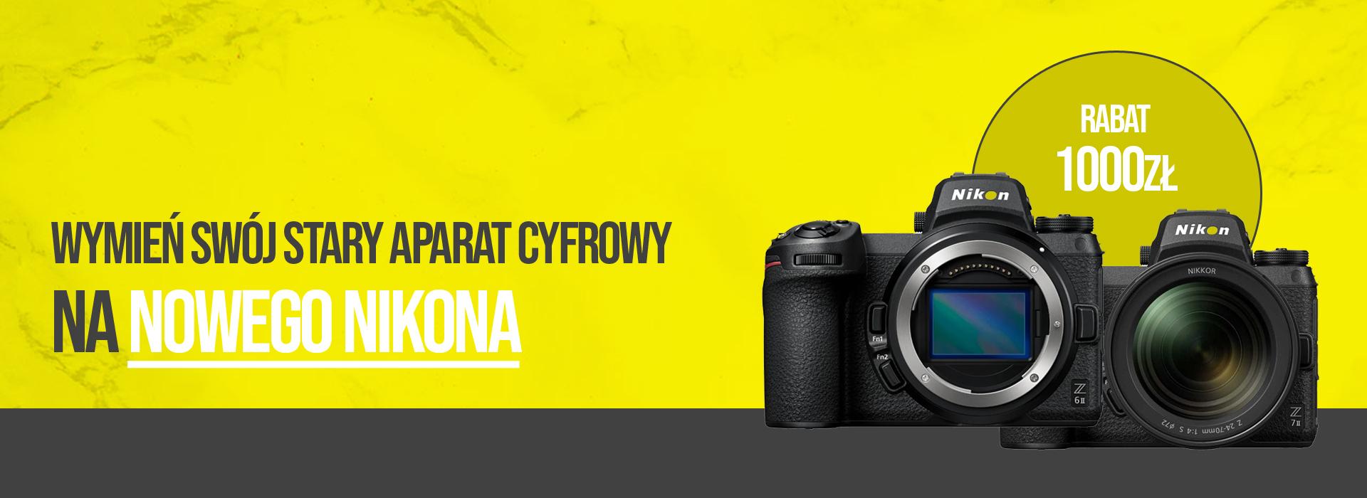Wymień swój stary aparat cyfrowy na nowego Nikona
