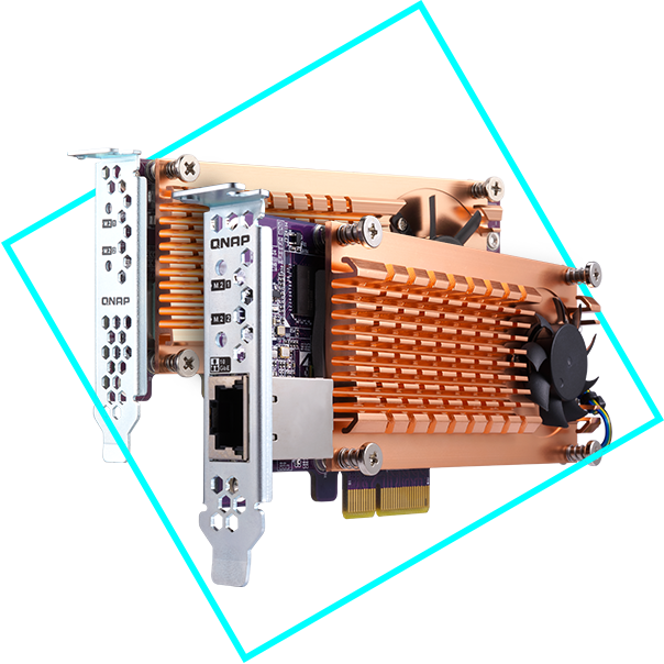 Karty QM2 M.2 SSD/10 GbE