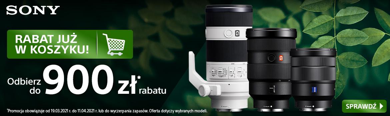 Sony Rabat już w koszyku na wybrane obiektywy
