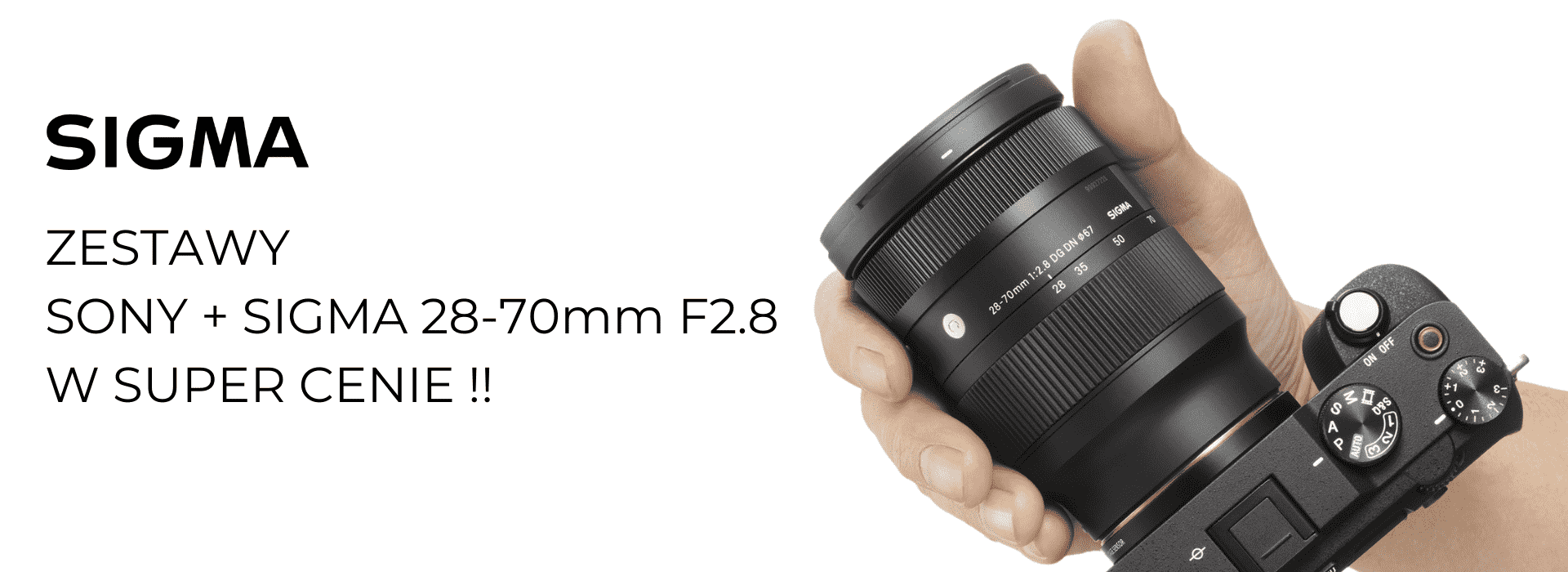 Zestaw Sony + Sigma 28-70mm F2.8 w SUPER CENIE!